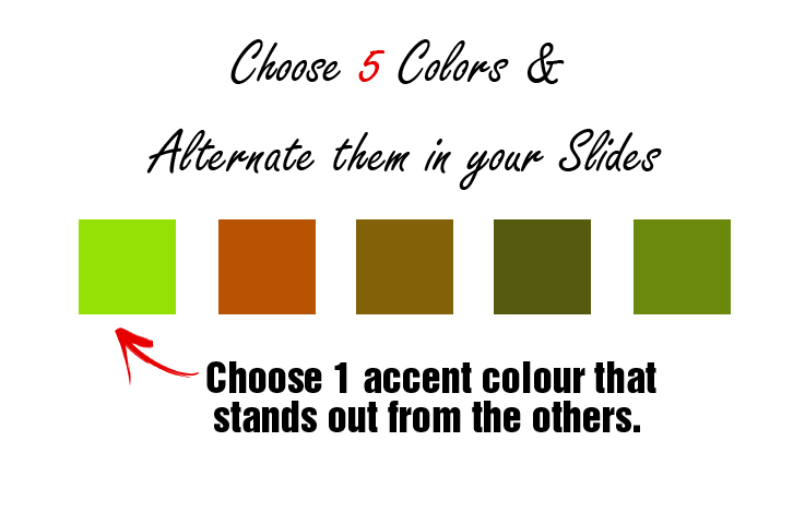 5 Colours in Slideshare presentation